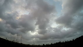 Time-lapse of sky and storm clouds. Footage stock video footage