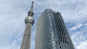 Time Lapse of Skytree Entertainment Tower in Tokyo Japan -  Tokyo Japan stock video footage