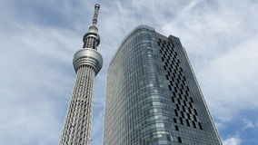 Time Lapse of Skytree Entertainment Tower in Tokyo Japan -  Tokyo Japan stock video