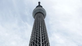 Time Lapse of Skytree Entertainment Tower in Tokyo Japan -  Tokyo Japan stock footage
