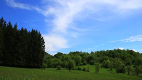 Time lapse of spring landscape in Pyrenean countryside,  France. Time lapse of spring landscape in Pyrenean countryside, Aude in southern of France stock video footage