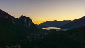 Time Lapse of Squamish during Sunset stock video
