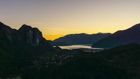 Time Lapse of Squamish during Sunset stock video footage