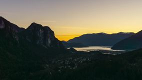Time Lapse of Squamish during Sunset stock footage