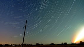 Time lapse Startrails stock video