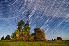 Time lapse Startrails Stock Image