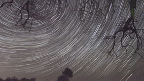 Time lapse of startrails stock footage