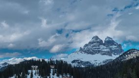 Clouds move over the Dolomites stock footage