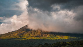 Time lapse of the summit of the volcano of Arenal stock video