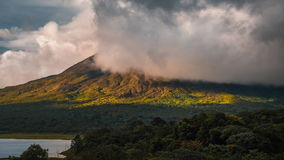 Time lapse of the summit of the volcano of Arenal