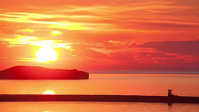 Time lapse of the sunrise above the sea stock footage
