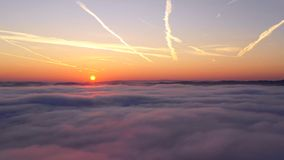 Time lapse of sunrise stock video footage