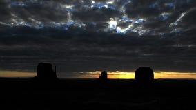 Time Lapse of Sunrise Monument Valley Utah - 4K. Scenic Sunrise at Monument Valley stock video