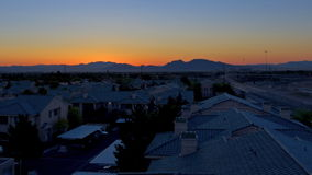 Time lapse sunrise over residential neighborhood stock video footage