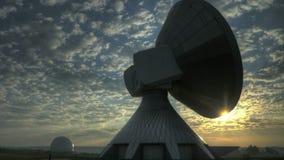 Time lapse sunrise over Satellite Station stock video