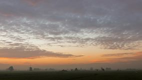 Time lapse of sunrise at Streefkerk stock footage