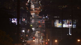 Time Lapse of Sunset Blvd at Night stock footage