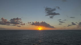 Time lapse Sunset in caribbean Sea stock video footage