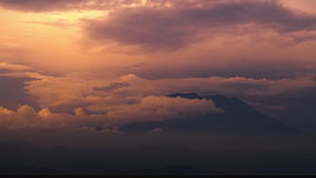 Time lapse of the sunset with clouds stock footage