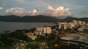 Time Lapse of sunset over Cairns Queensland Australia stock video