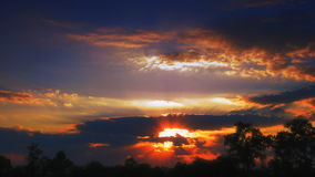 Time lapse sunset stock video footage