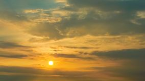 Time lapse of sunset sky with clouds stock footage