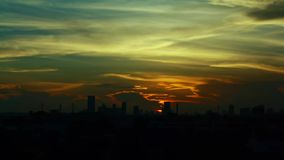Time lapse sunset in urban Stock Image