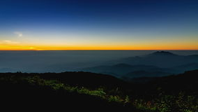 Time lapse sunrise on valley stock footage