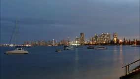 Time Lapse Surfers Paradise Gold Coast on Dusk stock video footage