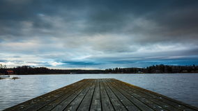 Time lapse at Swedish Lake stock video