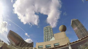Time lapse from tall buildings in Barcelona of Spain stock video
