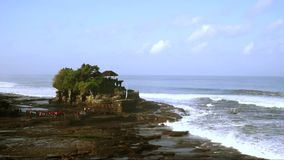 Time lapse of Tanah Lot Temple in Bali stock video