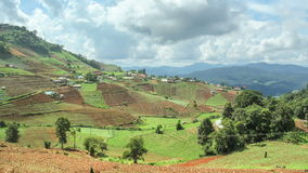 Time lapse of terraced vegetable field ,Thailand. Royalty Free Stock Photos