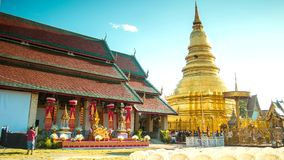 Time-lapse of Thai Famous pagoda wide still Royalty Free Stock Photography