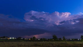 Time Lapse Thunderstorm And Lightning In Sky. Time Lapse Thunderstorm And Lightning In Night Sky stock video footage