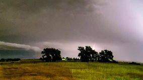 Thunderstorm time lapse. Time lapse of thunderstorm over Eastern Plains in Colorado, USA at night stock footage