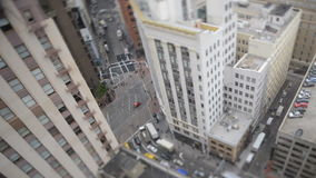 Time Lapse Tilt Shift of Traffic In Downtown San Francisco