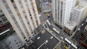 Time Lapse Tilt Shift of Traffic In Downtown San Francisco stock video footage