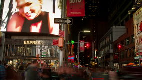 Time Lapse of Times Square, New York City, USA stock footage