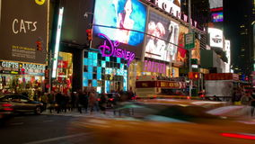 Time Lapse of Times Square, New York City, USA stock video footage
