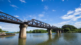 Time-lapse of Tourists on the Bridge River Kwai in Kanchanaburi, Thailand stock footage