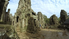 Time Lapse of Tourists at Temple of Bayon Angkor CambodiaTime Lapse of Tourists at Temple of Bayon Angkor Cambodia stock video footage
