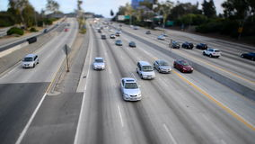 Time Lapse of Traffic on Busy Freeway in Los Angeles - Tilt Shift. Busy 405 Freeway in Los Angeles stock video