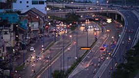 Time Lapse of Traffic on Busy Street in Downtown Ho Chi Minh City Vietnam stock video footage