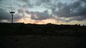 Time lapse Evening Clouds stock video footage