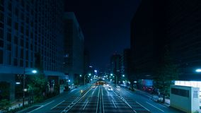 Time lapse of traffic in city night stock video footage