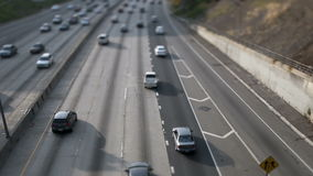 Time Lapse of Traffic on the 101 Freeway Tilt Shifted  Los Angeles stock video footage