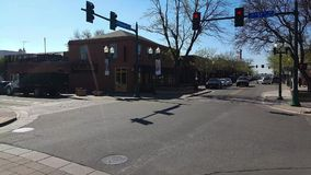 Time lapse from Old Town Arvada. A time lapse of the traffic in Old Town Arvada, Colorado stock video footage