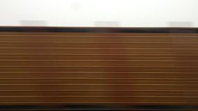 Time lapse of a train journey. Time lapse shot during a train journey. High speed train stock video