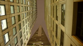 Time Lapse of the Transamerica Building at Night in San Francisco stock video footage
